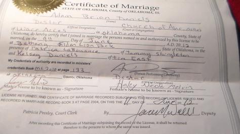 Legal Satanic Wedding License